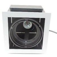 DEL Plafonnier Elektra 2-brûleur rectangulaire Incl e27 lampes mat blanc chaud par 800