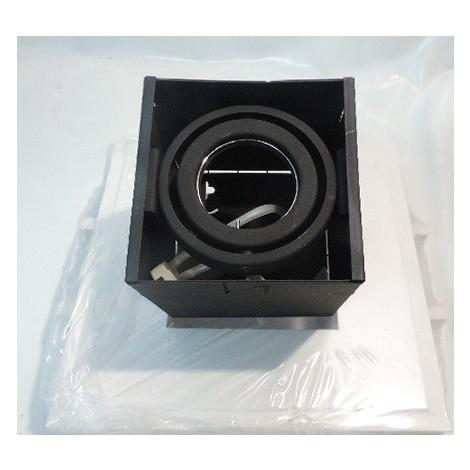 Plafonnier encastré carré noir 110X110mm pour lampe 12V GU5.3 50W max (non incl) KRIPTON PLUS TARGETTI 1V7244