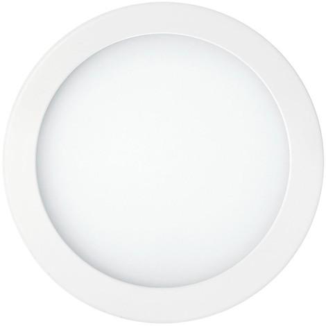 Plafonnier encastré LED 15W blanc Ø 245mm 3000K 1600lm avec driver 230V déporté IP44 (AIRCOM) CAMUS 2 TRAJECTOIRE 003291
