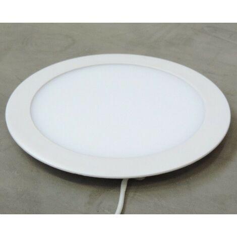 Plafonnier encastré LED 18W dalle ronde Ø 225mm blanc froid 5000K avec driver 230V IP44 AIRIS PNS18C