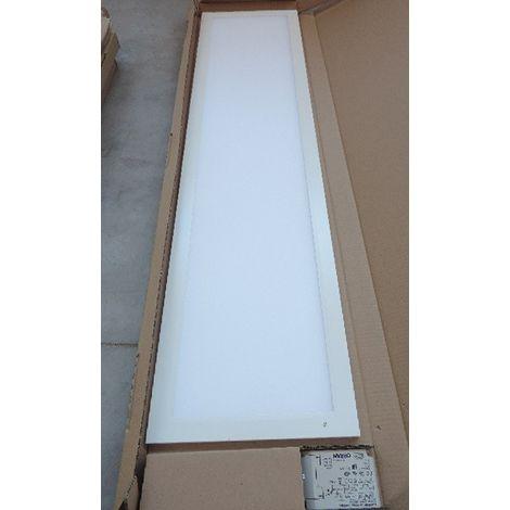 Plafonnier encastré LED 34W dalle 1200x300mm 4000K 3500lm avec driver 230V PC opale IK06 IP20/40 RAPSODY V2 DIETAL 201127