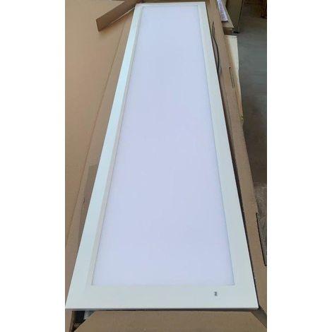 Plafonnier encastré LED 35W dalle 1200x300mm 4000K 3500lm avec driver 230V bord blanc PC opale IK06 IP20/40 RAPSODY V2