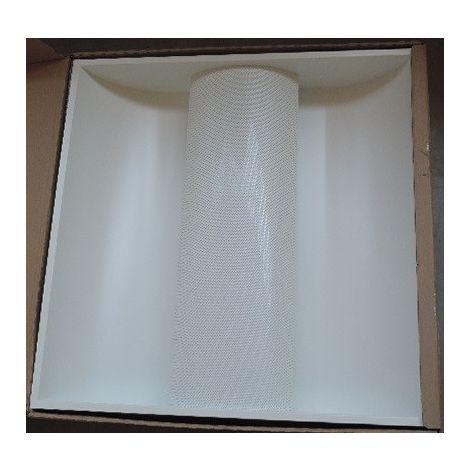 Plafonnier encastré LED 36W indirect dalle 600x600mm 4000K 2400lm diffuseur micro-perforée driver 230V IK07 IP20 INDIGO LEDIZ