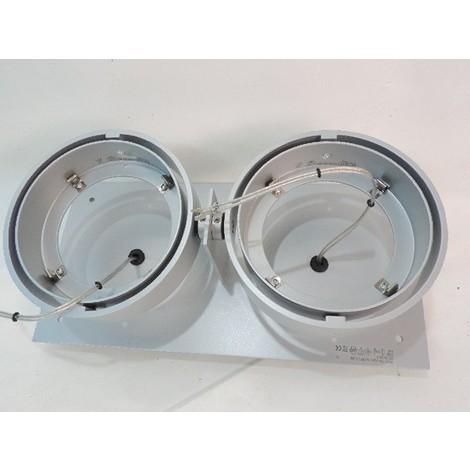 Plafonnier encastré orientable alu 304X151mm 2 lampes 12V AR111 G53 100W max (non incl) GRID IN ZB 2 QR A DELTA LIGHT