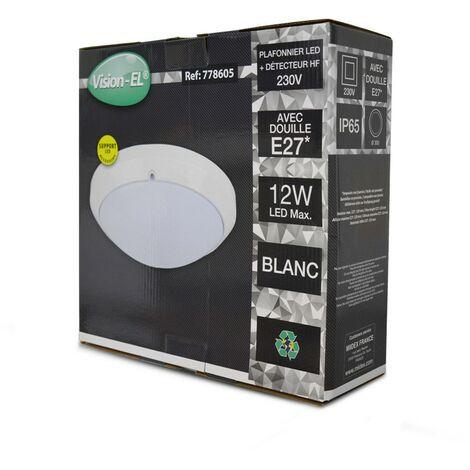 Plafonnier Hublot E27 Rond Ø300 mm (détecteur en option) | avec-detecteur