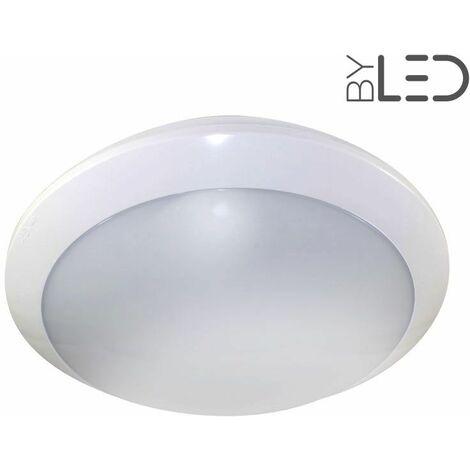 Plafonnier / hublot LED - Anti-vandale IK09 - IP65 (galbe-16) | Température de couleur Blanc Lumière du jour - Détecteur de présence Sans détecteur - Finition Blanc - Puissance (en Watts) 16 W