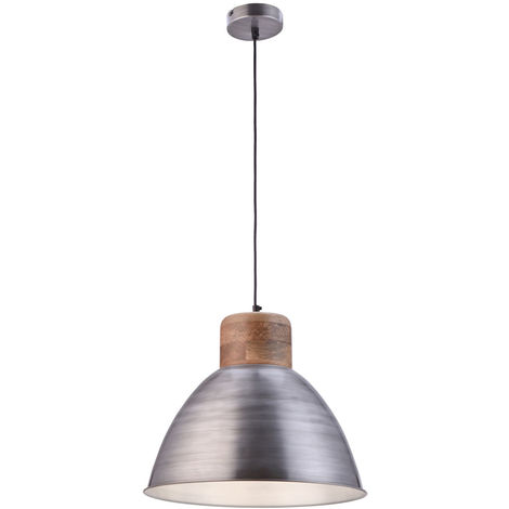 Plafonnier industriel avec télécommande pour lampe à bois à intensité variable dans le kit, y compris les ampoules LED RGB