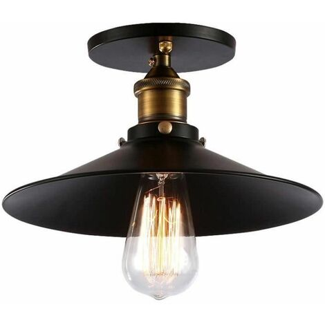Plafonnier Industriel Vintage 26cm Lampe de Plafond Rétro Suspension Chambre Couloir Bar