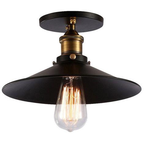 Plafonnier Industrielle E27 22cm Lustre Luminaire pour Couloir Salon Chambre