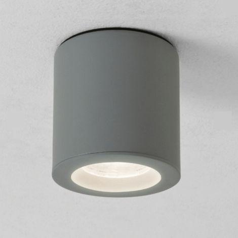 Plafonnier Kos rond LED IP65 salle de bains - Argent - Gris