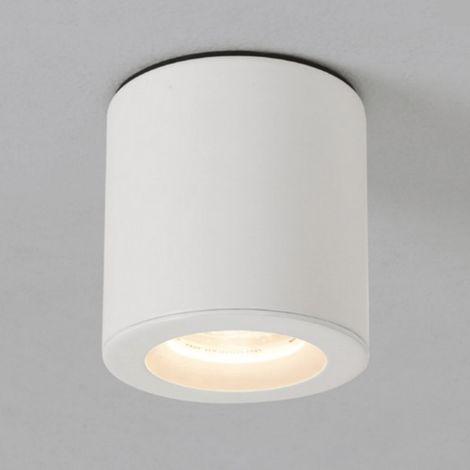 Plafonnier Kos rond LED IP65 salle de bains - Blanc - Blanc