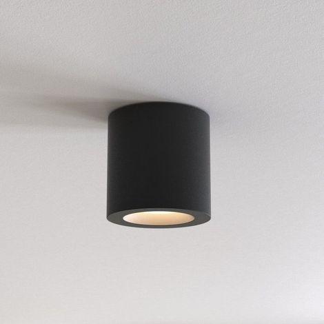 Plafonnier Kos rond LED IP65 salle de bains - Noir - Noir