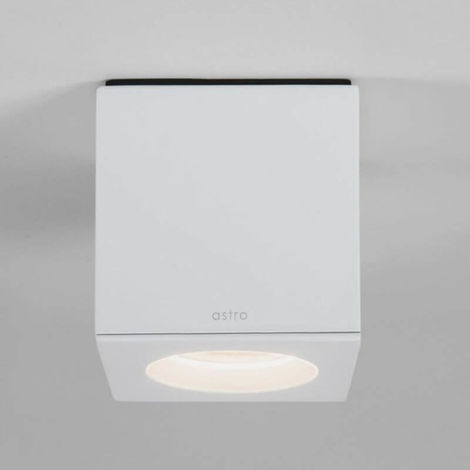Plafonnier Kos square LED IP65 salle de bains - Blanc - Blanc