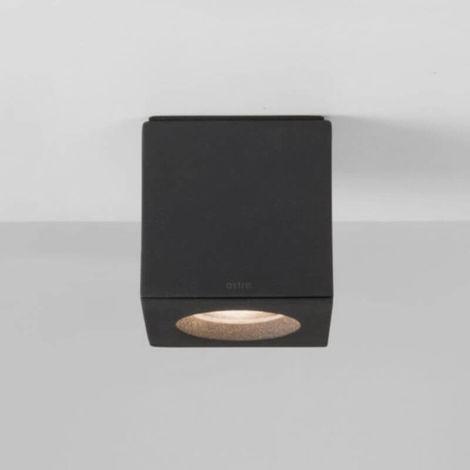 Plafonnier Kos square LED IP65 salle de bains - Noir - Noir
