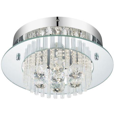 Plafonnier LED 11 Watts lampe luminaire cristaux baguettes de verre Globo 49361 éclairage