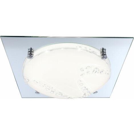 Plafonnier LED 12 Watts luminaire plafond bord miroir lampe verre opale DEL