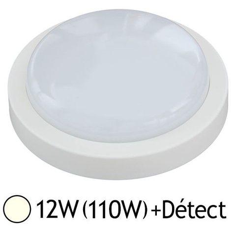 Plafonnier LED 12W (110W) Hublot IP65 Ø190 Blanc jour 4000°K