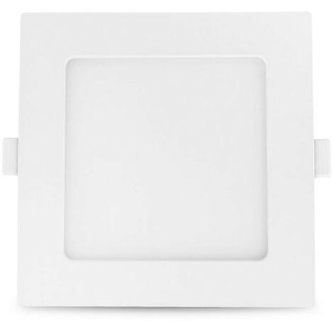 Plafonnier LED 150x150mm 10W blanc équivalent 100W Blanc Chaud (3000K)