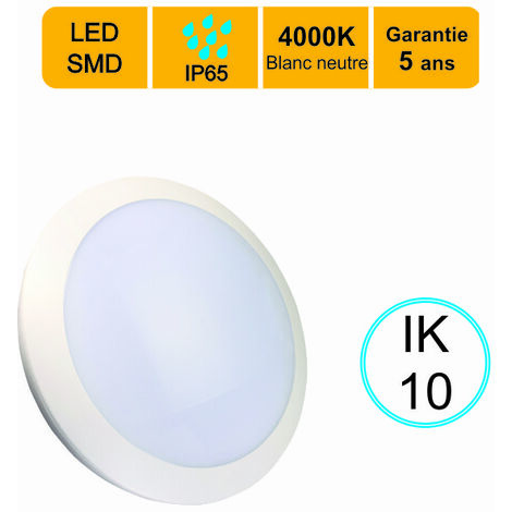 Plafonnier LED 16W 4000°K IP66 - IK10