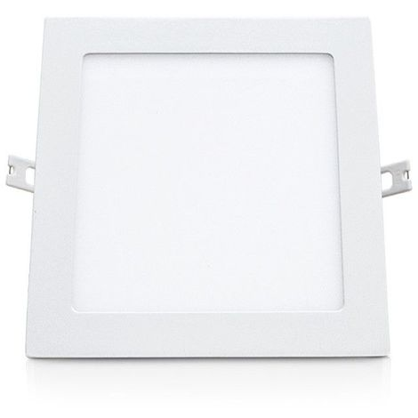 Plafonnier LED 18W (160W) Encastrable 200x200 Blanc neutre 4000°K Finition blanc