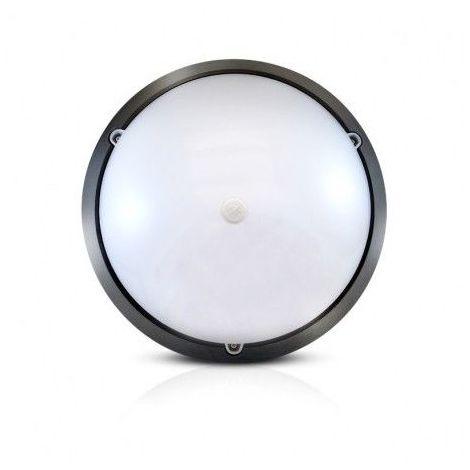 Plafonnier LED 18W (160W) IP65 Hublot Ø296 Blanc jour 4500°K + détect infrarouge