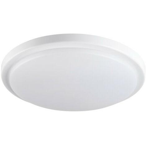 Plafonnier LED 18W à détecteur étanche IP54 rond ∅250mm Blanc - blanche, blanche 4000K