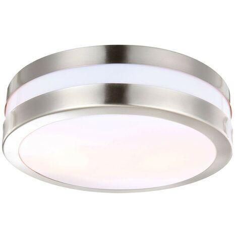 Plafonnier LED 19 watts luminaire extérieur lampe DEL IP44 éclairage inox terrasse jardin
