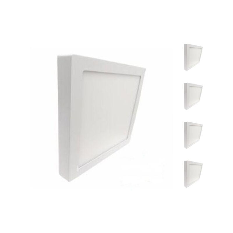Plafonnier LED 24W 220V Carré (Pack de 5) - Blanc Froid 6000K - 8000K - SILAMP