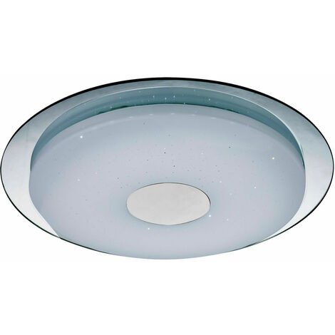 Plafonnier LED 24W, miroir, dimmable, CCT, D 45 cm, ATREJU