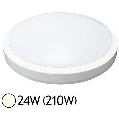 Plafonnier LED 24W Rond Ø330 mm (détecteur en option)