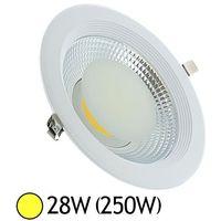 Plafonnier LED 28W (250W)) encastrable D228 Blanc chaud 3000°K