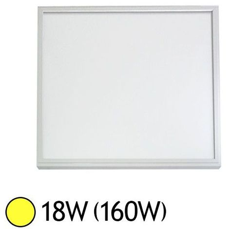 Plafonnier LED 300x300mm 18W blanc équivalent 160W