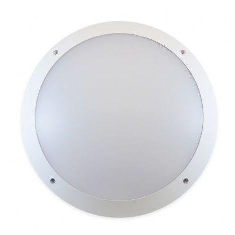 Plafonnier LED 30W (270W) IP65 Hublot Ø300 Blanc neutre 4000°K + détect HF