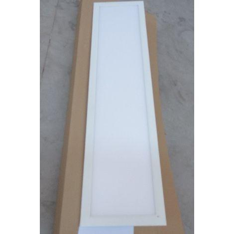 Plafonnier LED 32W dalle 1200x300mm pour rail 3 allumages 4000K 3600lm 230V avec adaptateur opale IK06 IP40 RAPSODY V2 TRACK