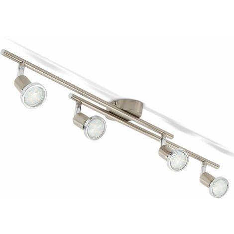 Plafonnier LED 4 spots salon orientable GU10 métal spots plafond 4 spots