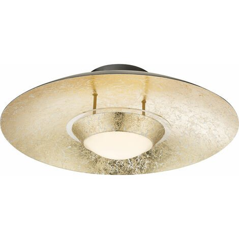 Plafonnier LED ÄTNA 1x LED á 18W avec rond doré EEK: A + acrylique noir