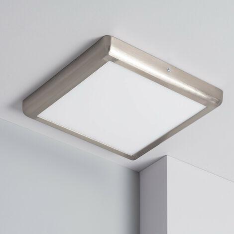 Plafonnier LED Carré Design 24W Silver Downlight