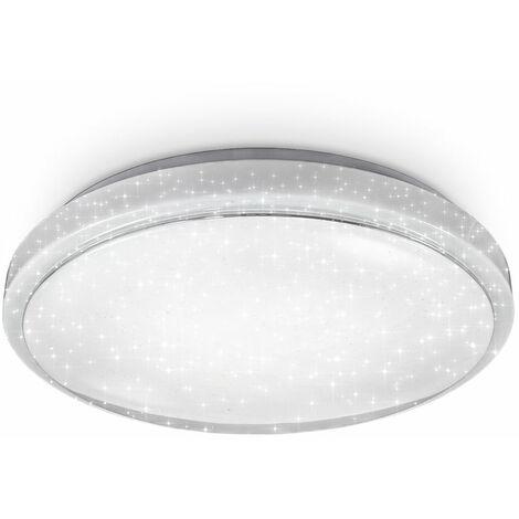 Plafonnier LED connecté 24W décor étoiles dimmable par WiFi