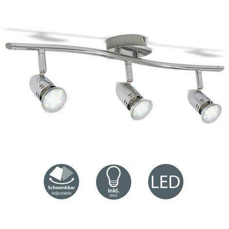 Plafonnier LED design 6W-12W luminaire plafond 230V spot plafond moderne GU10 chrome