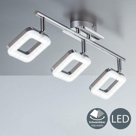 Plafonnier Led Design Moderne Chrome Luminaire Plafond Salon