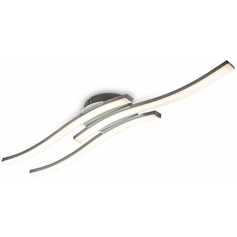 Plafonnier LED design moderne éclairage plafond en forme de vague modules LED 6W intégrés