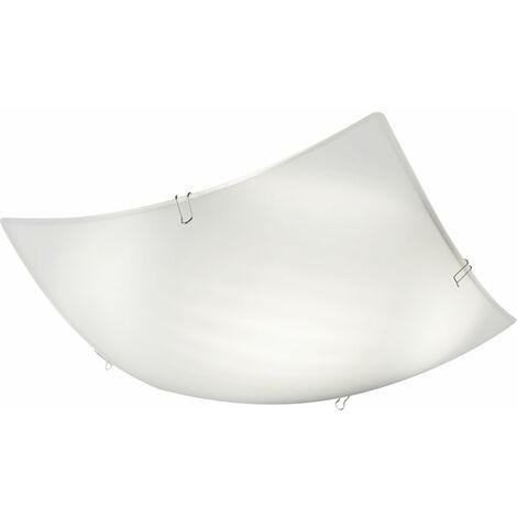 Plafonnier LED design salon éclairage lampe spot en verre blanc Globo 48451-8