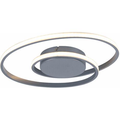 Plafonnier LED dimmable anneau design salon lampe de couloir Titan Reality lights R62911187