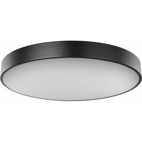 Plafonnier LED dimmable lampe noir salon / chambre à coucher lampe lumière du jour télécommande Globo 41744-48S