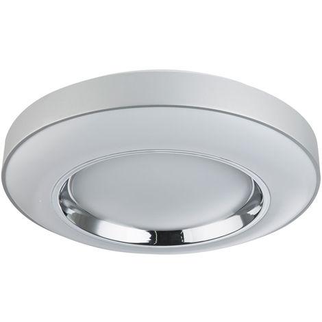 Plafonnier LED dimmable salon chambre lumière du jour lampe chromée TÉLÉCOMMANDE Globo 48397-36