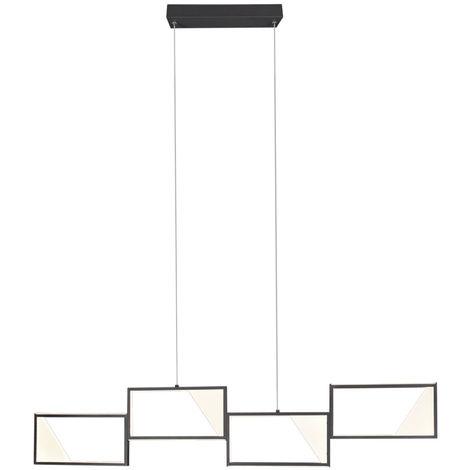 Plafonnier LED DIMMABLE salon salle à manger éclairage suspension anthracite trio 323210442