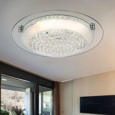 Plafonnier LED élégant avec cristaux de verre FROO
