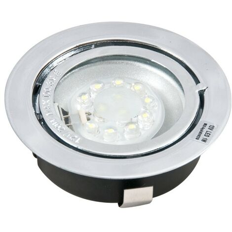 Plafonnier LED encastrable 7x LED blanc LED-06 chrome