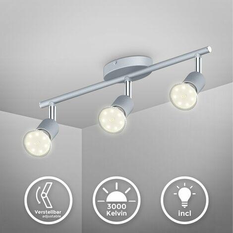 Plafonnier LED GU10 3 spot éclairage plafond cuisine salon bureau