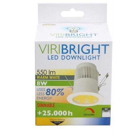 Plafonnier LED GU10 8W 230V blanc froid 700 Lumens